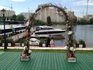 Оформ свадьбы Рустик